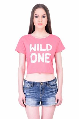 Picture of The Dry State Women's Half Sleeves Cotton Crop Top(CT05160002-$P_Pink)