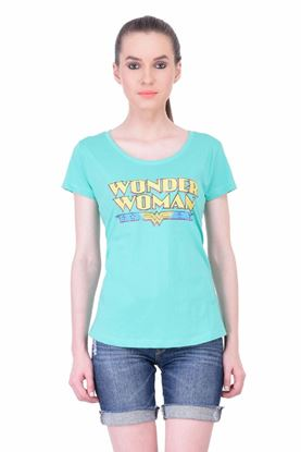 Picture of The Dry State Women's Half Sleeve Cotton T-Shirt(HS05160009-$P_Green)