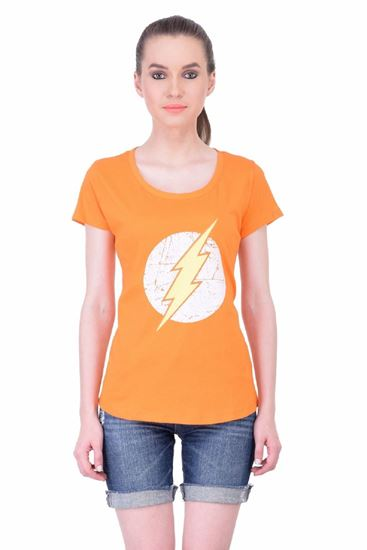 Picture of The Dry State Women's Half Sleeve Cotton T-Shirt(HS05160011-$P_Orange)