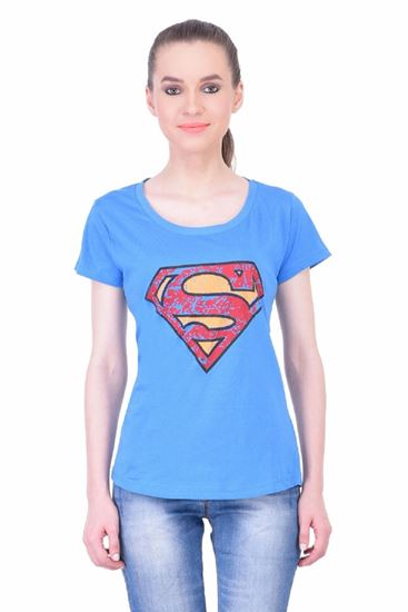 Picture of The Dry State Women's Half Sleeve Cotton T-Shirt(HS05160014-$P_Blue)