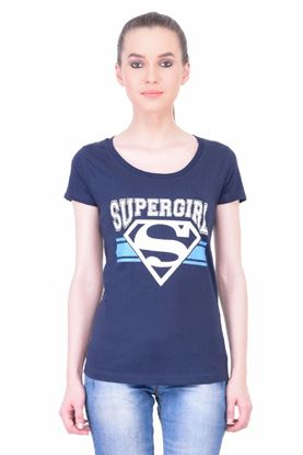 Picture of The Dry State Women's Half Sleeve Cotton T-Shirt(HS05160022-$P_Navy Blue)