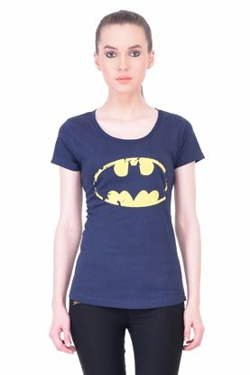 Picture of The Dry State Women's Half Sleeve Cotton T-Shirt(HS05160025-$P_Navy Blue)