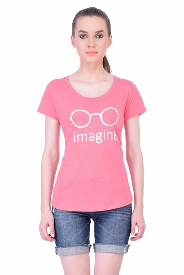 Picture of The Dry State Women's Half Sleeve Cotton T-Shirt(HS05160028-$P_Pink)