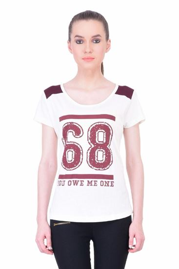 Picture of The Dry State Women's Half Sleeve Cotton T-Shirt(HS05160034-$P_Mixed)