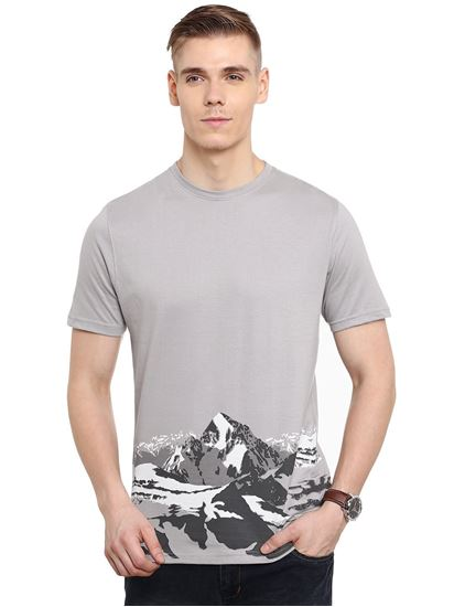 Picture of IOBE-Cotton Round Neck Half Sleeve-CSMHS-RN0003$Solid Gray