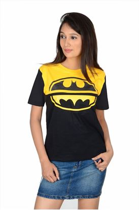 Picture of The Dry State Women's Half Sleeve Cotton T-Shirt(GTSDW125-$P_Yellow-Black)
